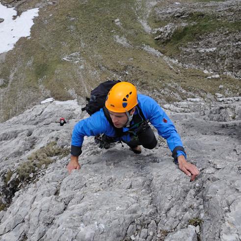 Alpinklettern Mehrseillängenrouten Plasirklettern mit Bergführer Paul Held