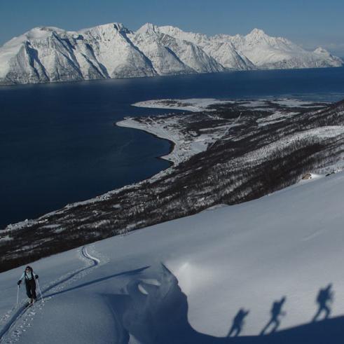 Skitourenreisen Norwegen Lyngen Alpen mit Bergführer Paul Held